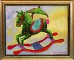 green wooden horse #7